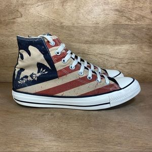 Converse CTAS Distressed Flag High-Top Sneakers